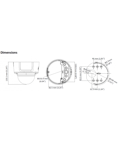 DIMENSIONS DS-2CD2725FWD-IZS