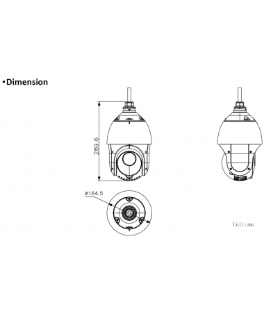 DIMENSIONS DS-2DE4225IW-DE